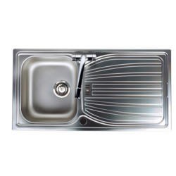 Astracast AI0951SVL Alto Single Bowl Reversible Drainer Linen Stainless Steel Sink Only