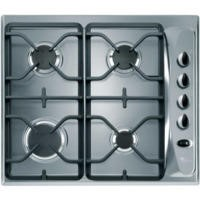 GRADE A3  - Whirlpool AKM274IX Stainless Steel Four Burner 60cm Gas Hob With Cast Iron Pan Stands