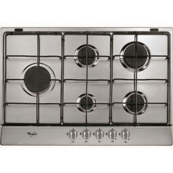 Whirlpool AKR315IX Stainless Steel Five Burner 73cm Gas Hob