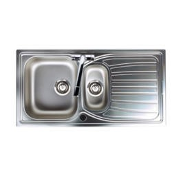 Astracast AO15XBHOMESK Alto 1.5 Bowl Reversible Drainer Brushed Stainless Steel Sink