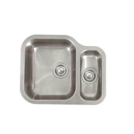 Reginox ALASKA-MBL 1.5 Bowl Left Hand Main Bowl Stainless Steel Sink