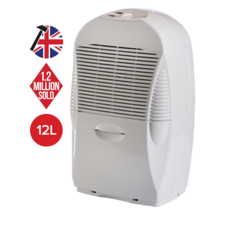 EBAC 12 L Dehumidifier ideal for up to 2 bed room houses with 1 year warranty