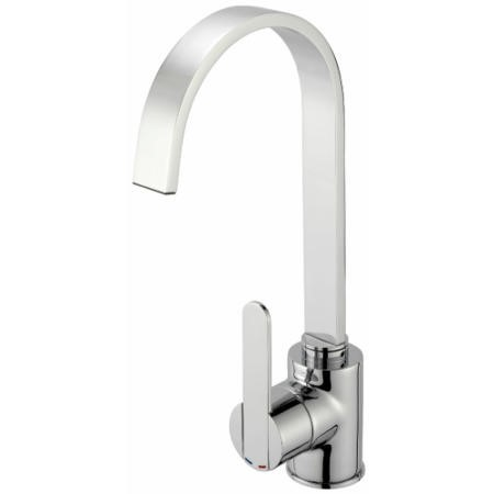 Reginox AMUR Single Lever Tap Black And Chrome With Square Edges