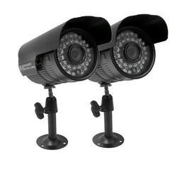 ElectrIQ 800TVL Analogue Bullet CCTV Camera 3.6mm 15m IR 2 x 18m Cable 2 Pack