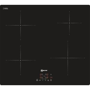 Neff Display 59cm Wide Touch Control Four Zone Induction Hob - Black