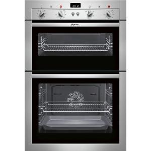 Neff U14M42N3GB Fanned Electric Built-in Double Oven - Stainless Steel