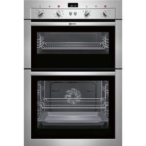 Neff Display Fanned Electric Built-in Double Oven - Stainless Steel
