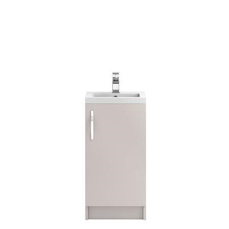 Cashmere Free Standing Bathroom Vanity Unit & Basin - W405 x H850mm