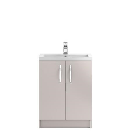 Cashmere Free Standing Bathroom Vanity Unit & Basin - W605 x H850mm