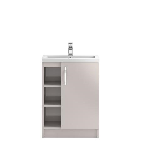 Cashmere Free Standing Bathroom Vanity Unit and Basin - W605 x H850mm