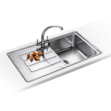 Franke APX611DP Alpina Single Bowl Stainless Steel Sink and Tap Designer Pack