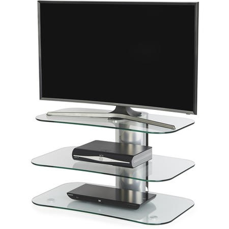 Off The Wall Arc 800 Silver - Wide Curved glass Stand