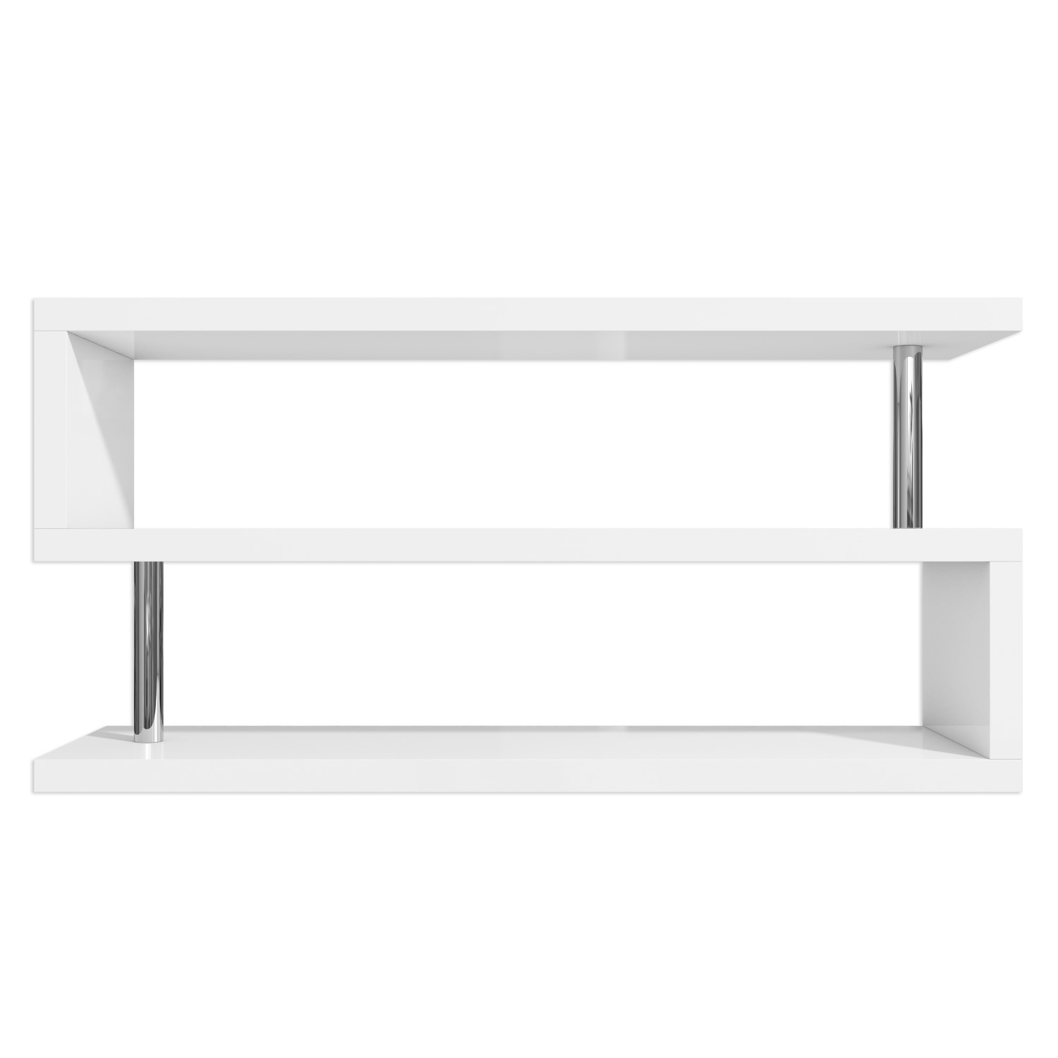 low priced a2a12 e81a3 Artemis White High Gloss Geometric TV Stand - TV's up to 50
