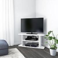 Artemis Small White High Gloss Corner TV Stand- TV's up to 40