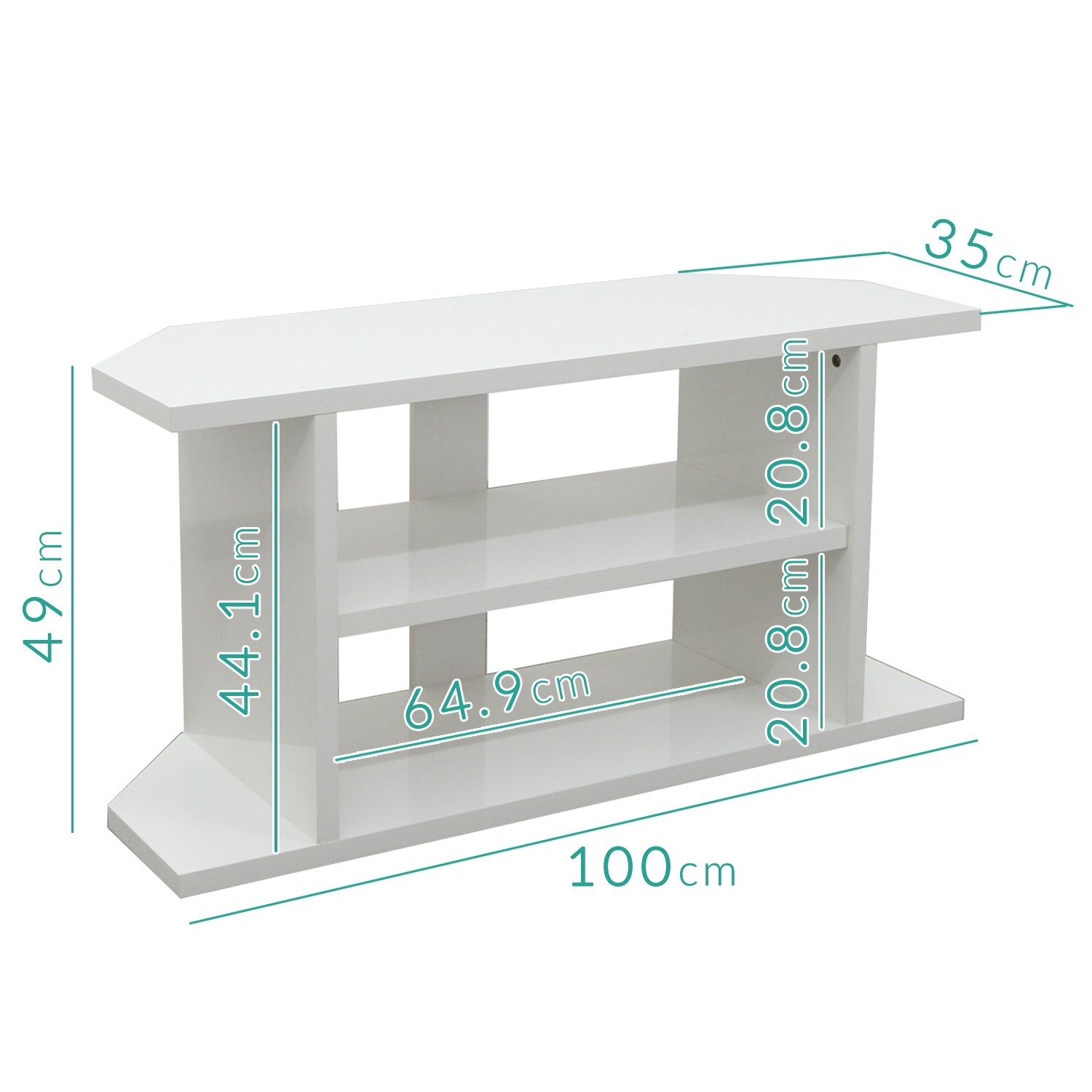 on sale 3fe7f ad85c Artemis Small White High Gloss Corner TV Stand - TV's up to 40