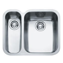 Franke ARX 160-D Ariane 1.5 Bowl Undermount Stainless Steel Sink With Left Hand Small Bowl