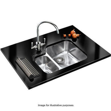 Franke ARX 160 Ariane 1.5 Bowl Undermount Stainless Steel Sink With Left Hand Small Bowl