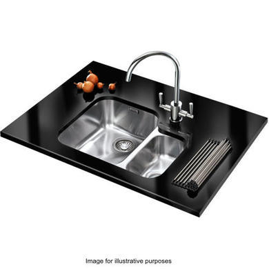 Franke ARX 160 Ariane 1.5 Bowl Undermount Stainless Steel Sink With Right Hand Small Bowl