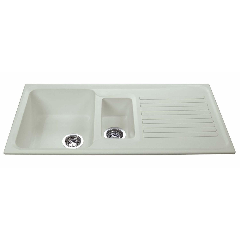 Cda As2cm Asterite Composite 1 5 Bowl Sink Cream