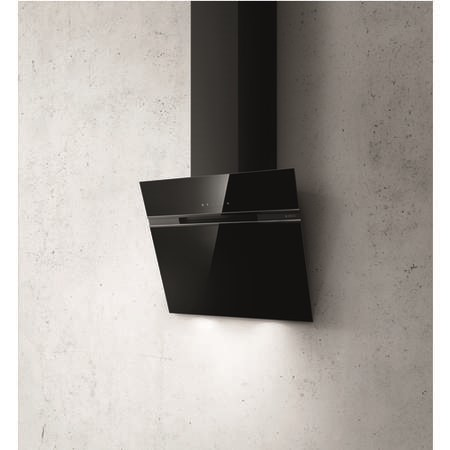 Elica ASC-LED-60-BLK Ascent 60cm Angled Cooker Hood - Black