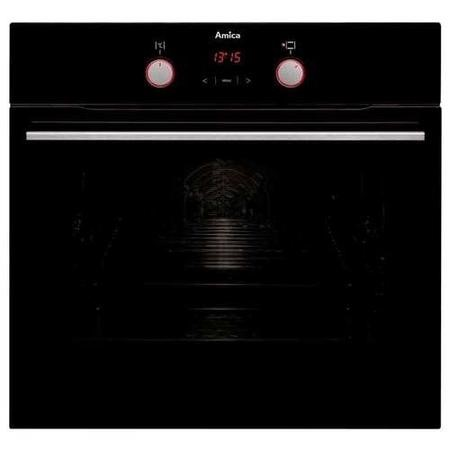 Amica ASC420BL 7-function 65L Single Oven With Aqualitic Enamel Cavity And Soft Close Door - Black