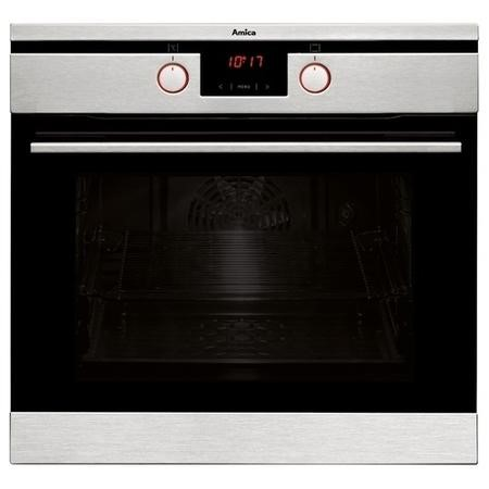 Amica ASC460SS 7-function 65L Single Oven With Pyrolytic Cleaning And Soft Close Door - Stainless St