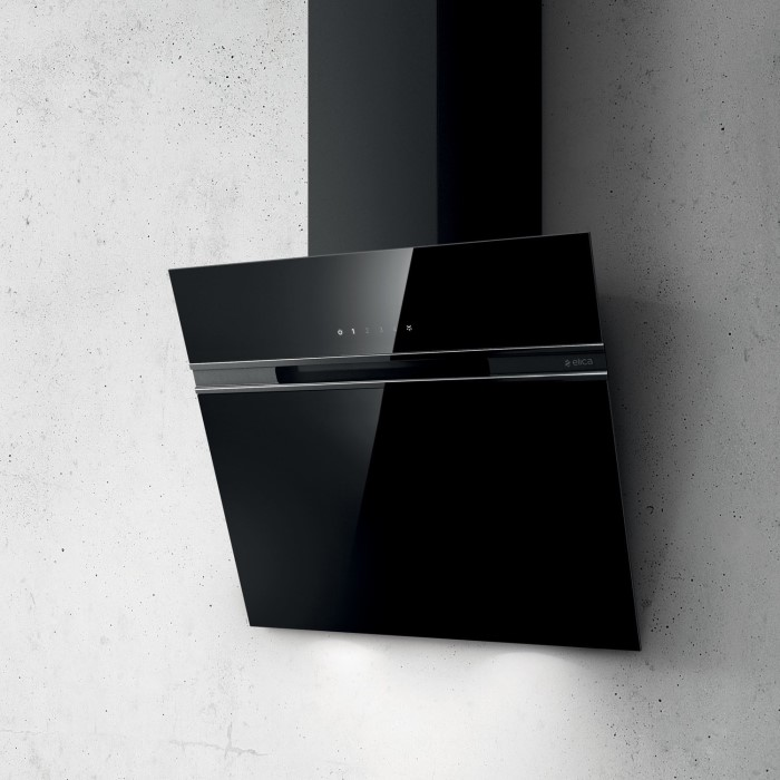 Elica Ascent 60 Blk Ascent Black 60cm Angled Cooker Hood