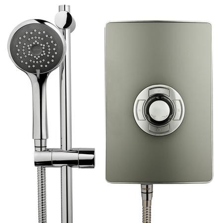 Triton Aspirante 9.5kw Electric Shower - Gun Metal