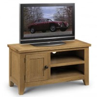 Astoria Small TV Unit in Waxed Oak- Julian Bowen