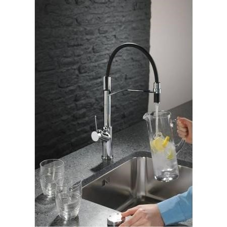 Abode AT2051 Swich Water Filter Diverter - Round Handle in Brushed Nickel with Soft Water Filter