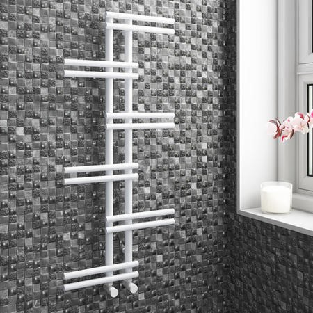 White Bathroom Towel Radiator - 1005 x 500mm