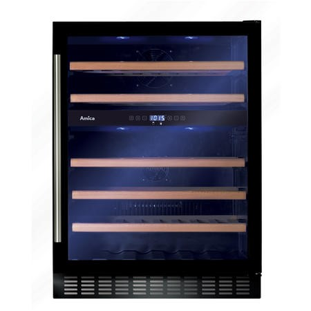 Amica AWC601BL 60cm Feestanding Wine Cooler - Black