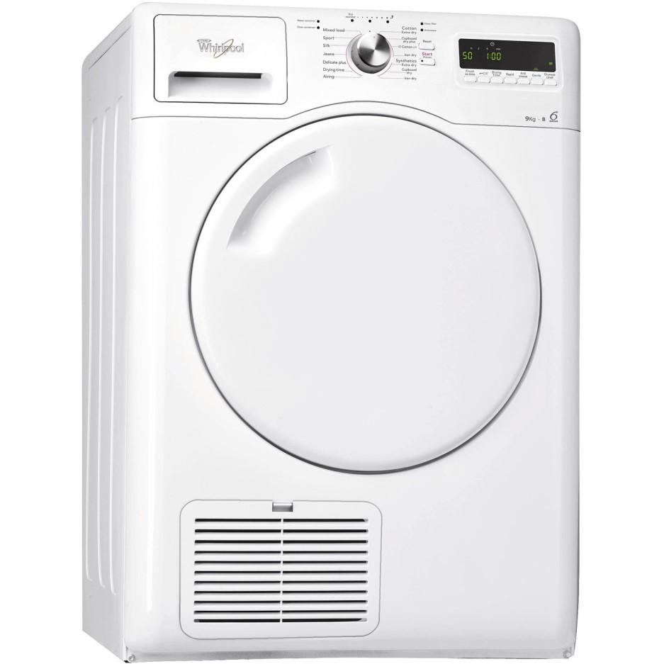 whirlpool azb9781 9kg freestanding condenser tumble dryer white appliances direct