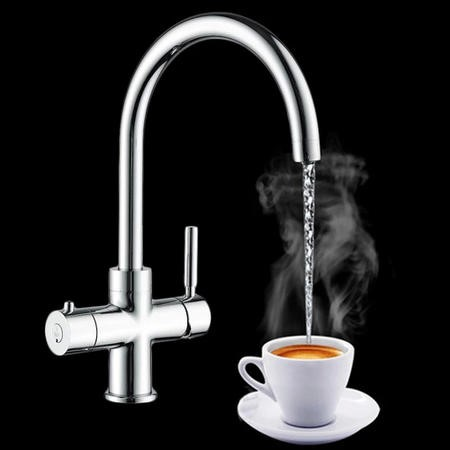 Instant Boiling Water Kitchen Tap 3 in 1 Chrome - Mayfair Escala