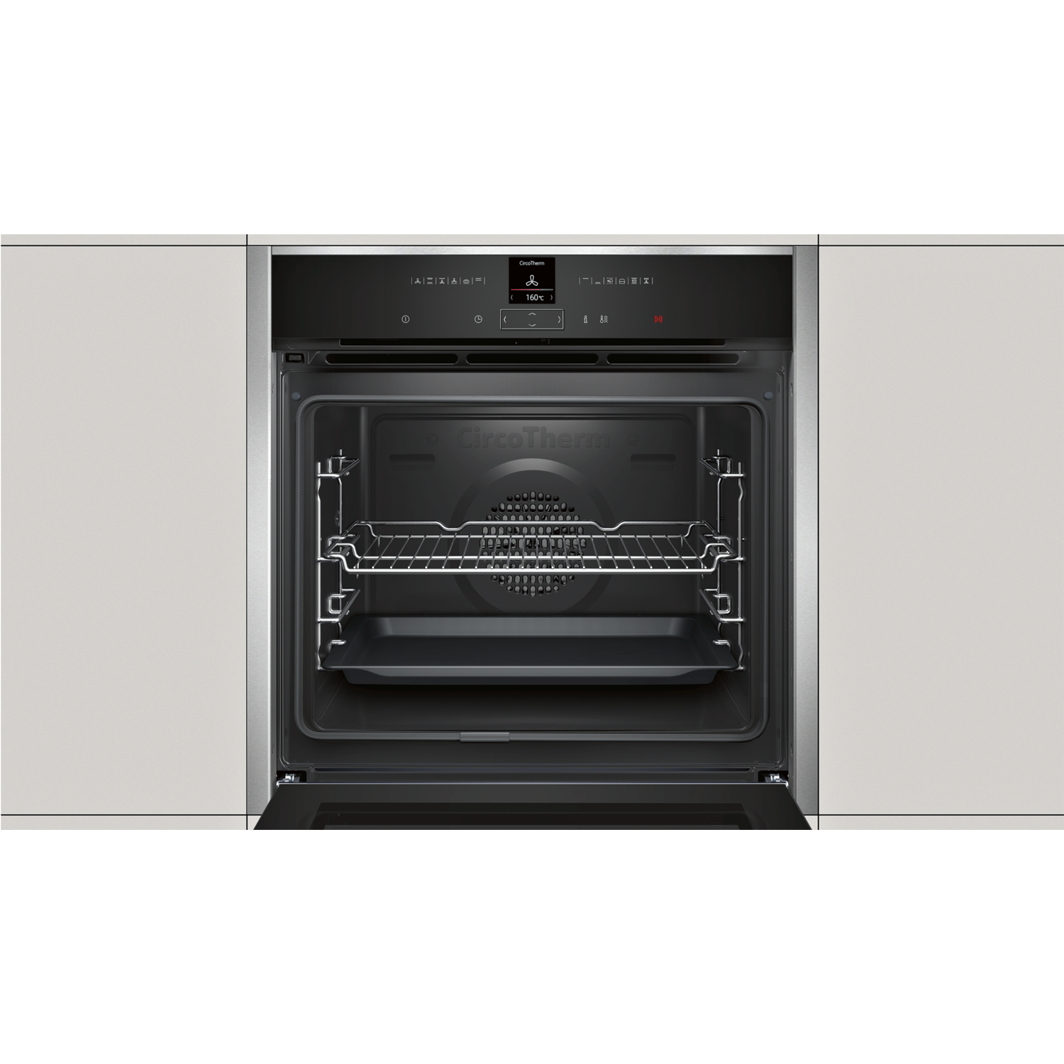 Neff B27cr22n1b N70 Electric Built In Single Oven With Pyrolytic Cleaning Stainless Steel
