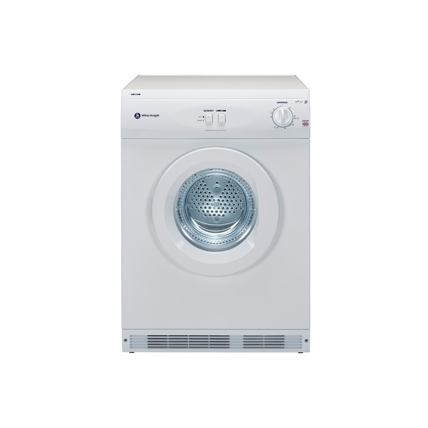 grade a1 white knight b44aw 6kg freestanding vented tumble dryer rh appliancesdirect co uk Holy White Knight Holy White Knight