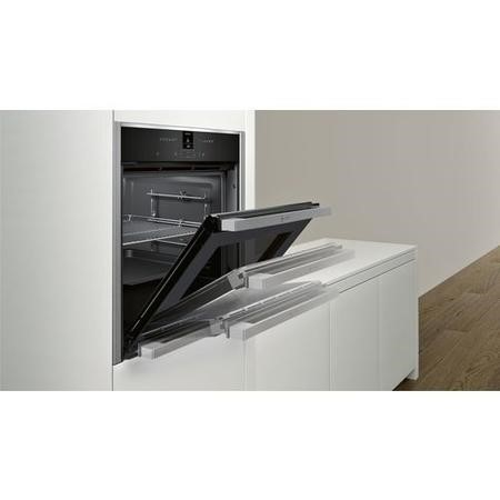 Neff B47CR32N0B Slide & Hide Electric Built-in Single Oven Stainless Steel
