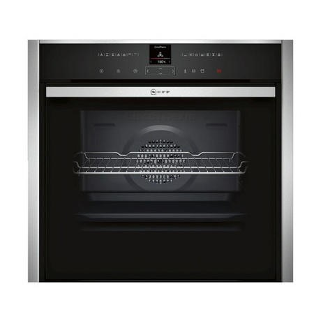 Neff B47VR32N0B Slide & Hide Electric Built-in Single Oven Stainless Steel