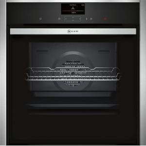 Neff B47CS34N0B Slide & Hide Electric Built-in Single Oven Stainless Steel