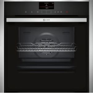 Neff B47VS34N0B Slide & Hide Electric Built-in Single Oven Stainless Steel