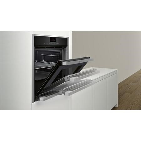 Neff B57VS24N0B Slide & Hide Electric Built-in Single Oven Stainless Steel