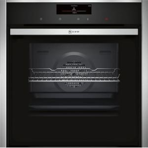 Neff B58CT68N0B Slide & Hide Electric Built-in Single Oven Stainless Steel