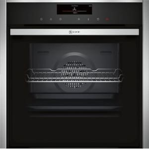 Neff B48VT38N0B Slide & Hide Electric Built-in Single Oven Stainless Steel
