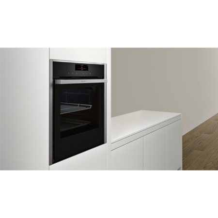 Neff B58VT68N0B Slide & Hide Electric Built-in Single Oven Stainless Steel
