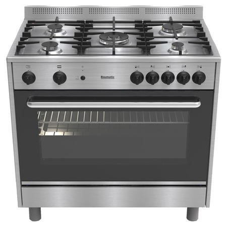 Baumatic BC190.2TCSS Single Cavity 90cm Gas Range Cooker in Stainless Steel