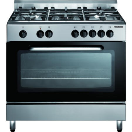Baumatic BC391.3TCSS Single Cavity 90cm Dual Fuel Range Cooker Stainless Steel
