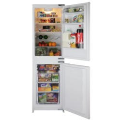 GRADE A2 - Light cosmetic damage - BEKO BC50FC Frost Free 50-50 Sliding Rail Integrated Fridge Freezer