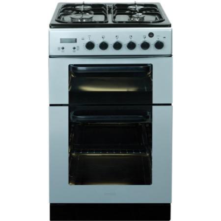 baumatic bcg520sl dual cavity silver 50cm wide gas cooker. Black Bedroom Furniture Sets. Home Design Ideas