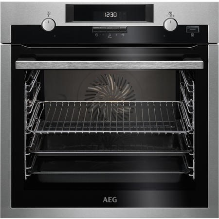 AEG BCS551020M SteamBake Multifunction Electric Single Oven Stainless Steel