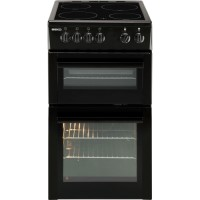Beko BDC5422AK 50cm Double Cavity Electric Cooker With Ceramic Hob Black Best Price, Cheapest Prices